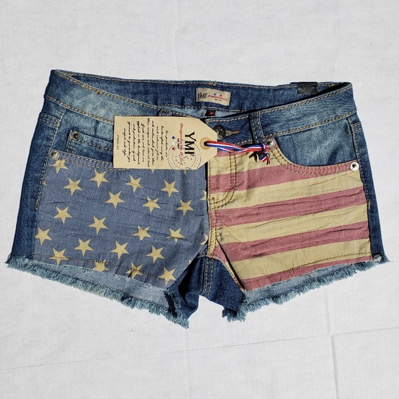 YMI Pants - YMI american flag shorts